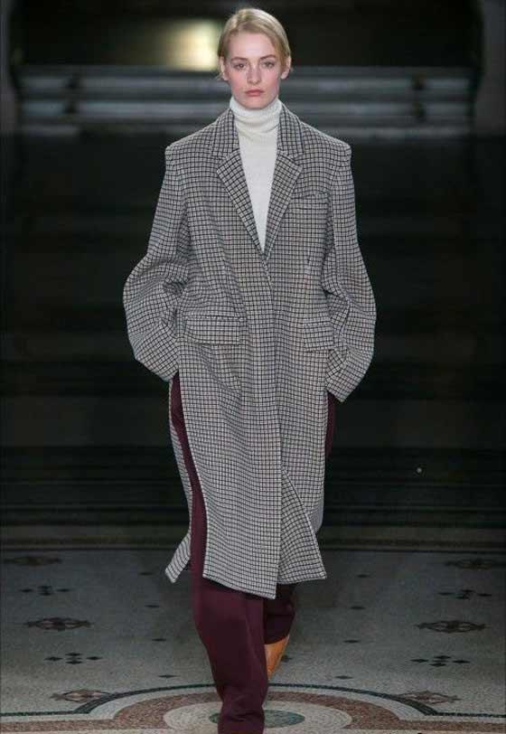 Клетчатое пальто-осень