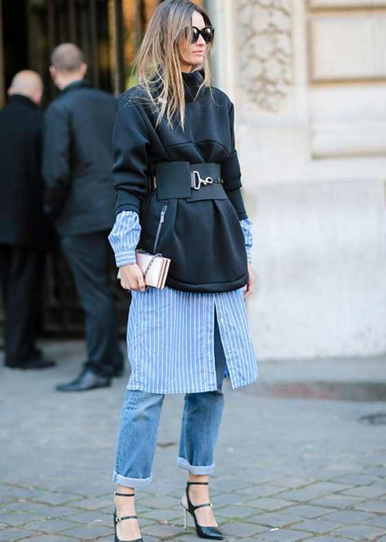 Платье + джинсы