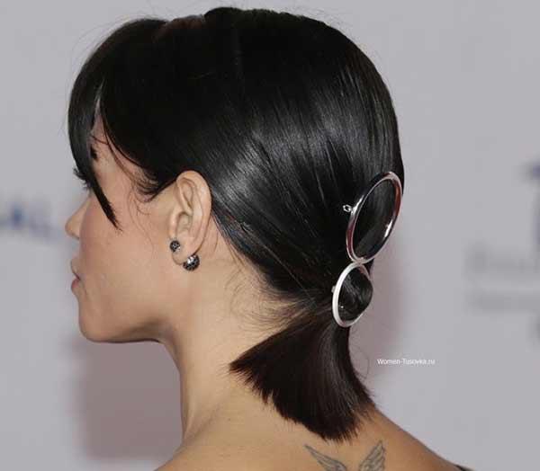 Укладка с аксессуарами для коротких волос