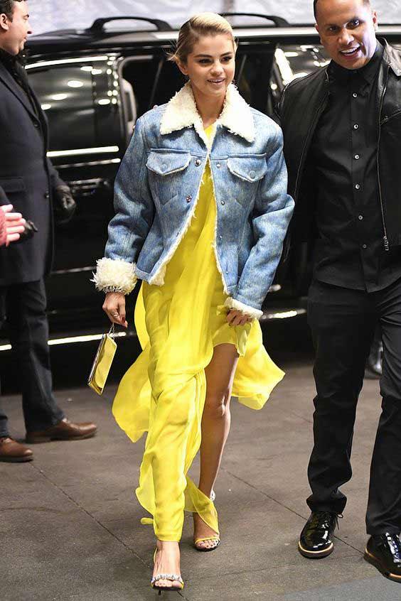 Желтое нарядное платье 2018