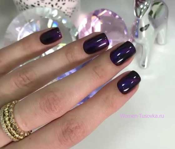 Роскошный ультрафиолет: сочные идеи маникюра в трендовом цвете