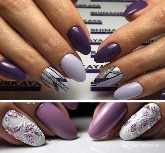 Роскошный ультрафиолет: яркие, сочные идеи маникюра в трендовом цвете