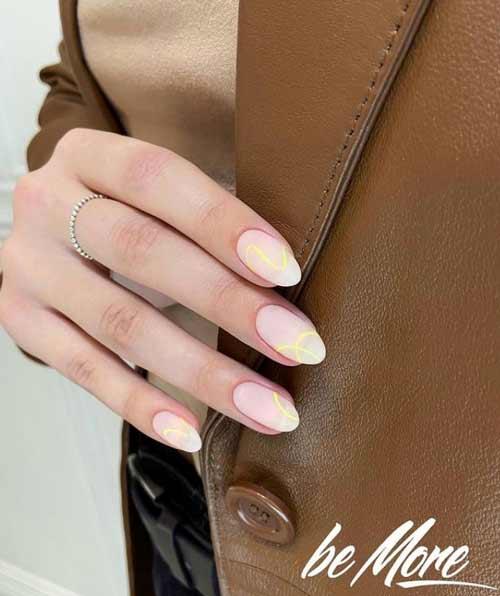 Короткие ногти дизайн нюд