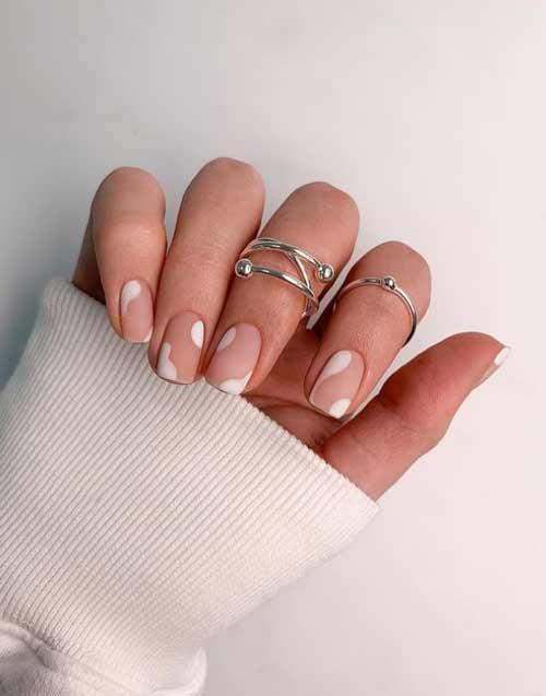 Матовый нюд ногти