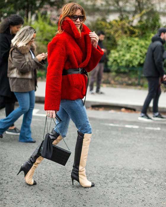 Цветной мех, Paris Fashion Week Street Style Fall 2017