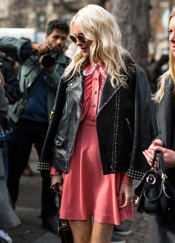 Черная кожа, Paris Fashion Week Street Style Fall 2017
