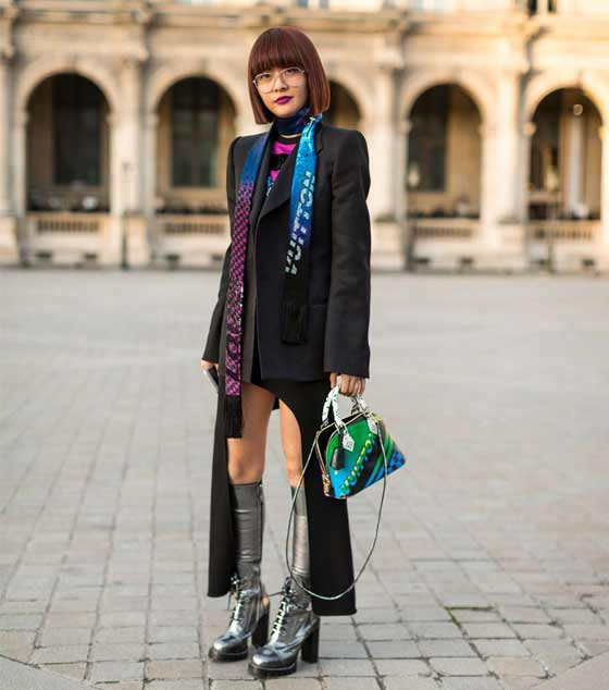 Глубокие вырезы, Paris Fashion Week Street Style Fall 2017