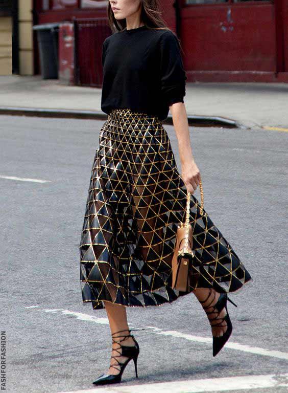 Черно-золотая юбка, пример
