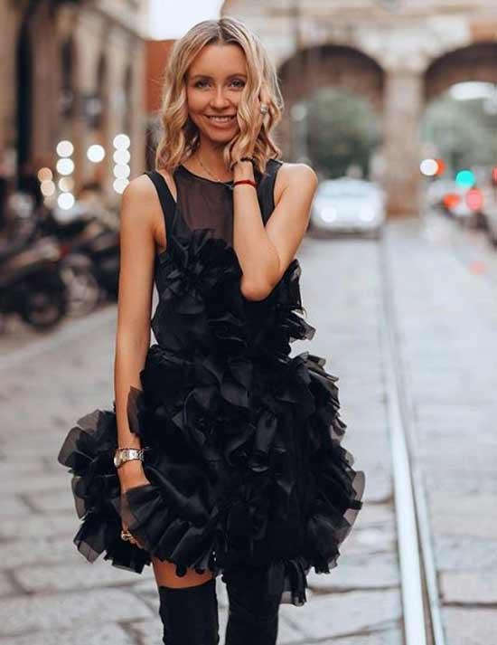Шифоновое платье для вечеринок