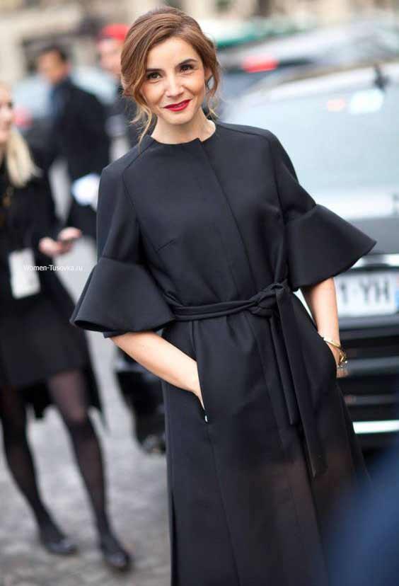 Платье-халат однотонное