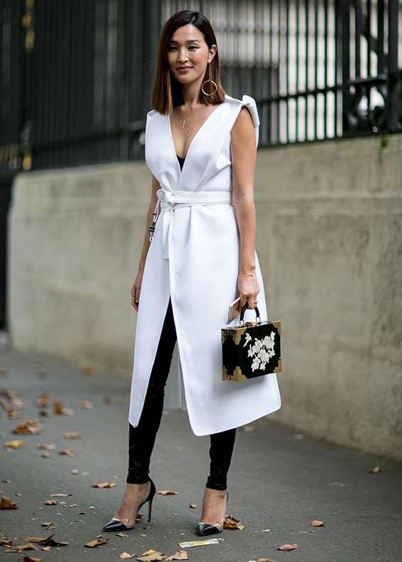 Белое платье-халат стритстайл