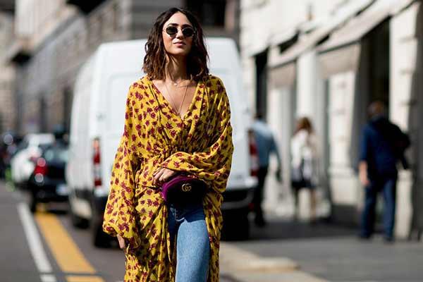 Платье-халат 2018 мода