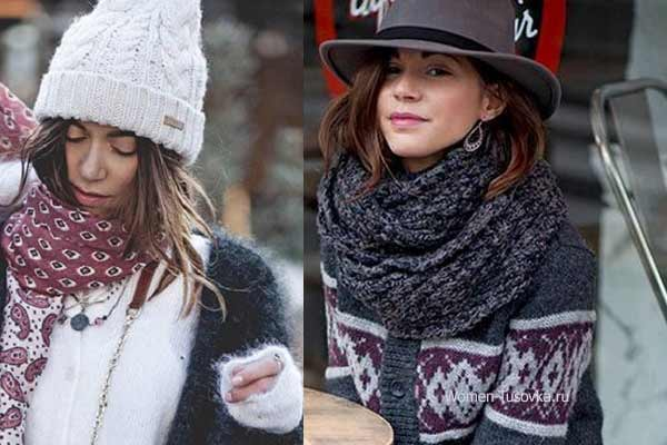 С французским шиком: 5 способов удачного дополнения образа шарфом