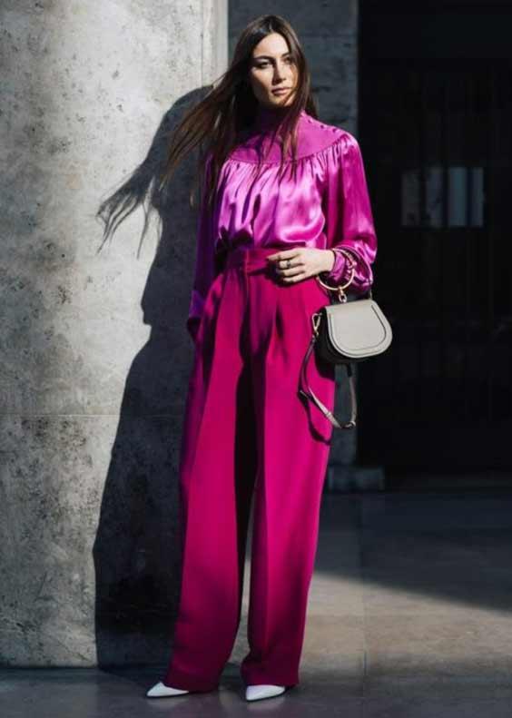 Джорджия Тордини в модном фиолетовом