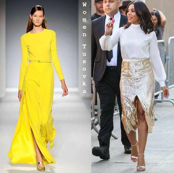 yellow платье на новый год