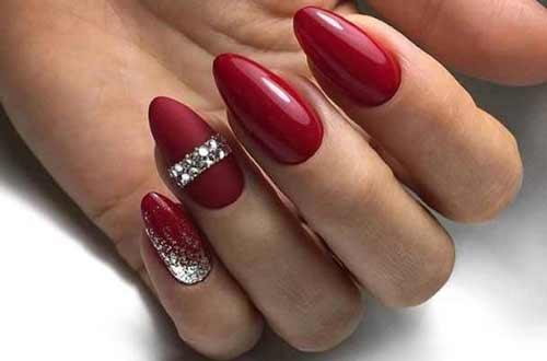 Красные bracelet nails