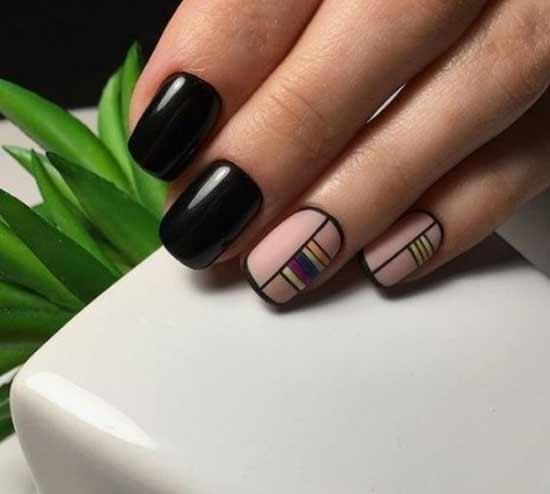 Черный френч с геометрией