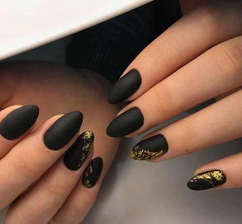 Черный матовый с золотом