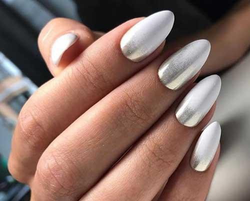 Блестящий серо-белый дизайн