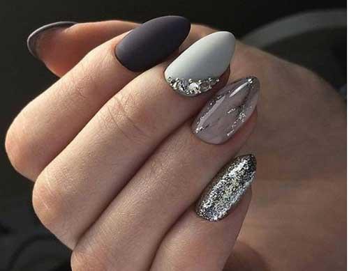 Серый новогодний серый дизайн