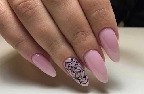 Нежно-розовая нюдовая палитра и рисунок