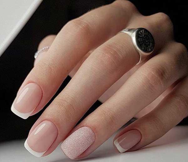 Идеальные пальчики: строгий маникюр идеи в гамме нюд