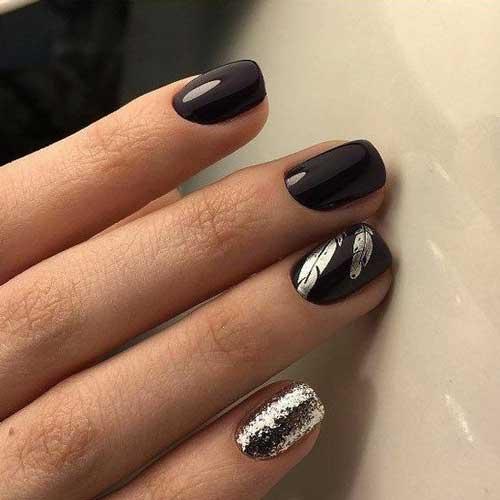 Черный + блестки