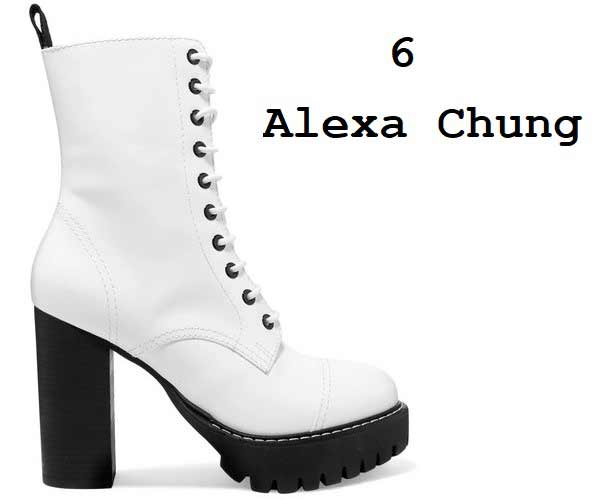 Alexa Chung белые ботильоны