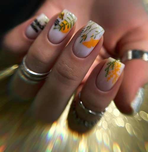 Весенний нейл-арт на ногтях