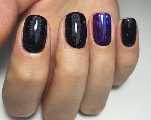 короткая длина ногтей, фото 13
