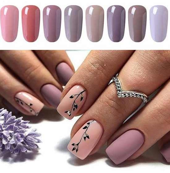 Пастельные цвета лака для ногтей