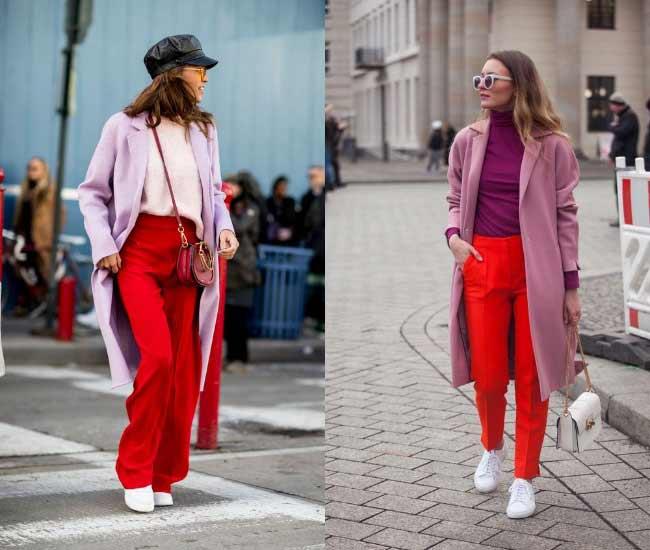 Красный + фиолетовый