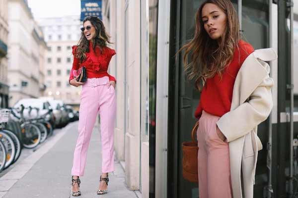 Сложное сочетание розовый +красный