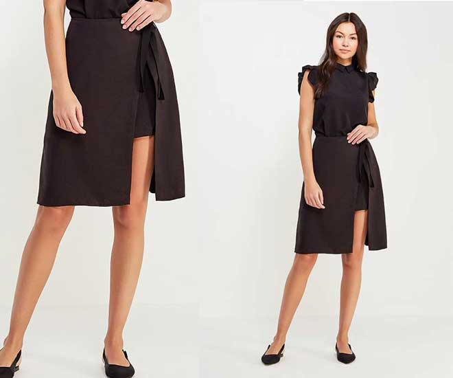 Модная юбка асимметричный крой