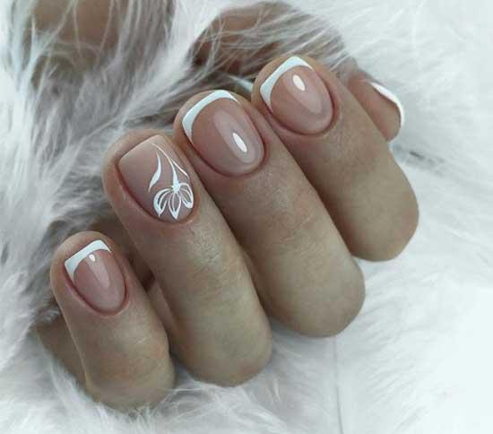 Короткие ногти+беж