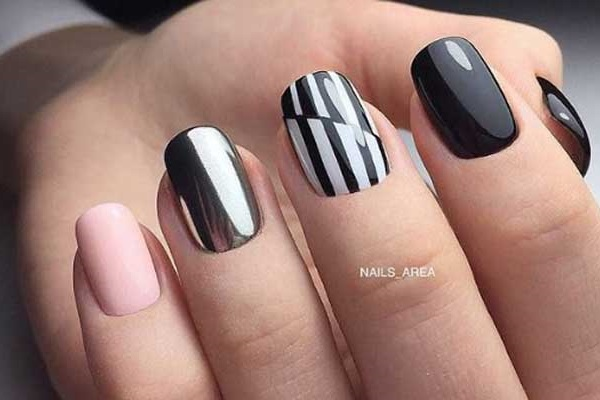 Геометрия на ногтях по-новому