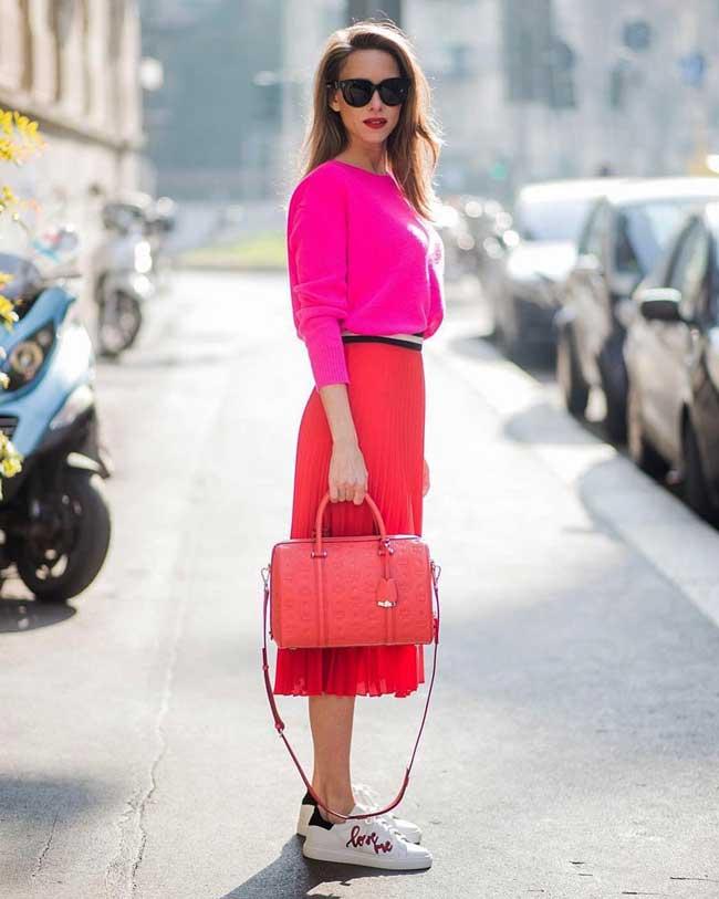 Плиссированные юбки модные в 2018 году