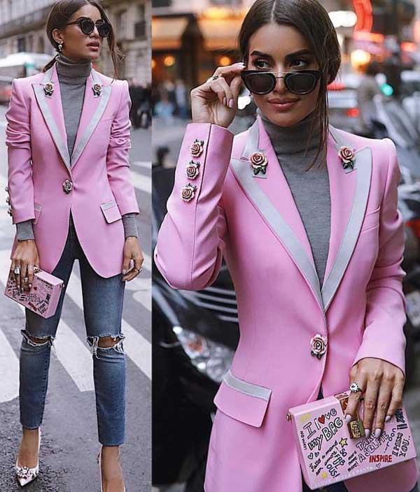 Пиджак пастельного цвета