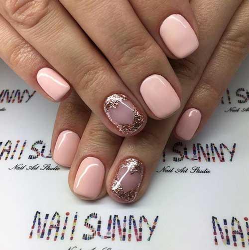 Нежно-розовый маникюр: идеи модного дизайна, новинки весна 2018