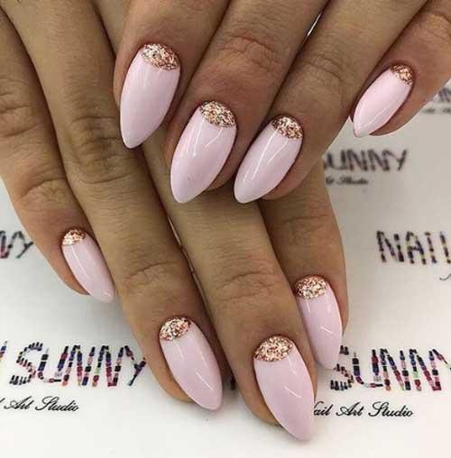 Идея нежно-розового маникюра