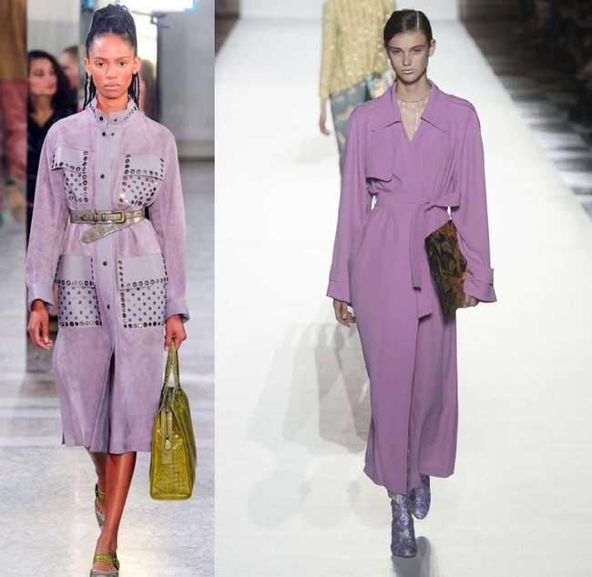 Модные лиловые плащи на весну 2018