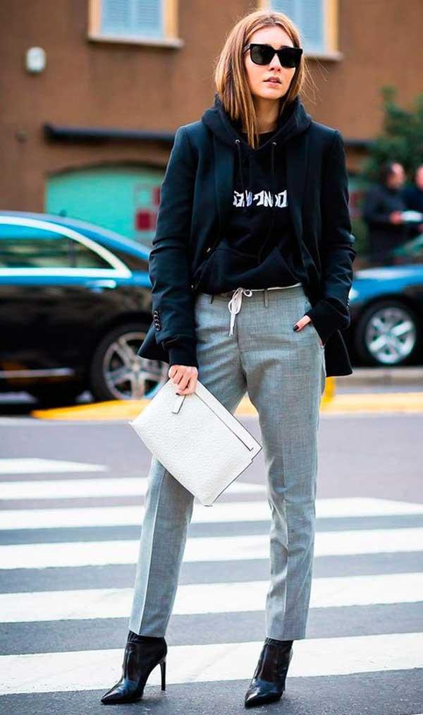Пиджак и худи