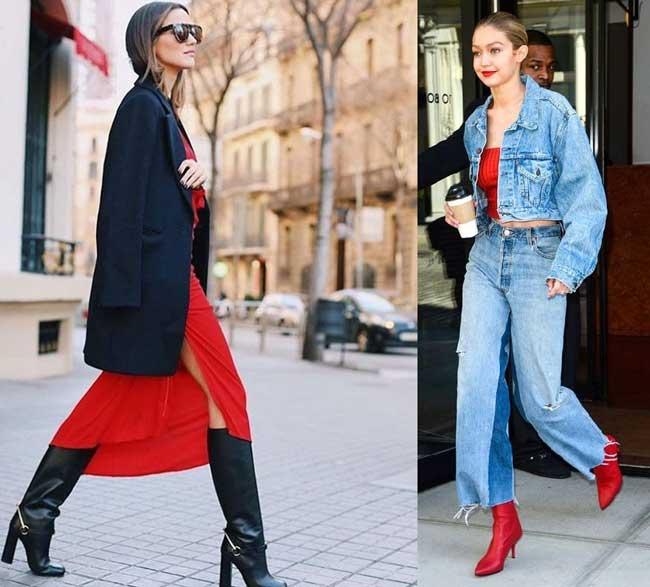 Красный цвет позволяет выглядеть дорого и изысканно