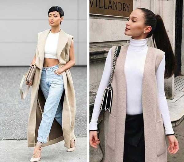 Всегда в моде и стильная: как носить бежевый и выглядеть дорого фото жилет