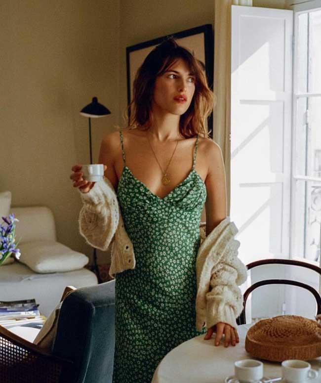 Жанна Дамас: стиль настоящей француженки, в платье