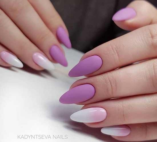 Градиент в фиолетовых тонах