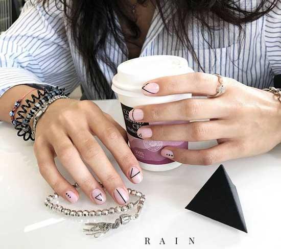 Minimalist nail art design идеи | negative space nail art