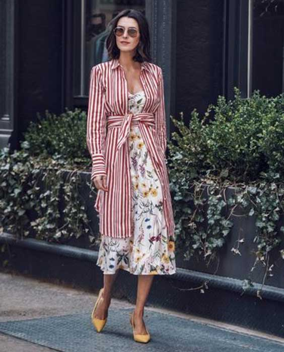 Платье на весну 2018 с цветочным принтом