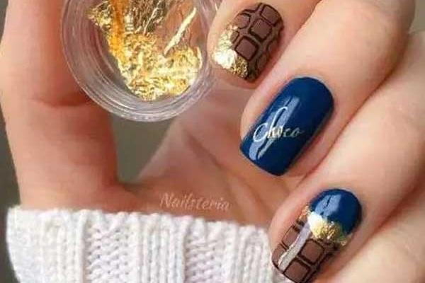 Идеи маникюра в шоколадных тонах