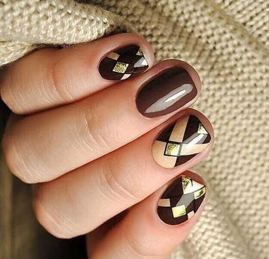 Идеи шоколадного маникюра